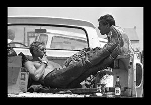 Historical Photo Collection 8 x 10 Photo Framed Steve_Mcqueen_Bud_Ekins On High Qquality Fiji Film Paper